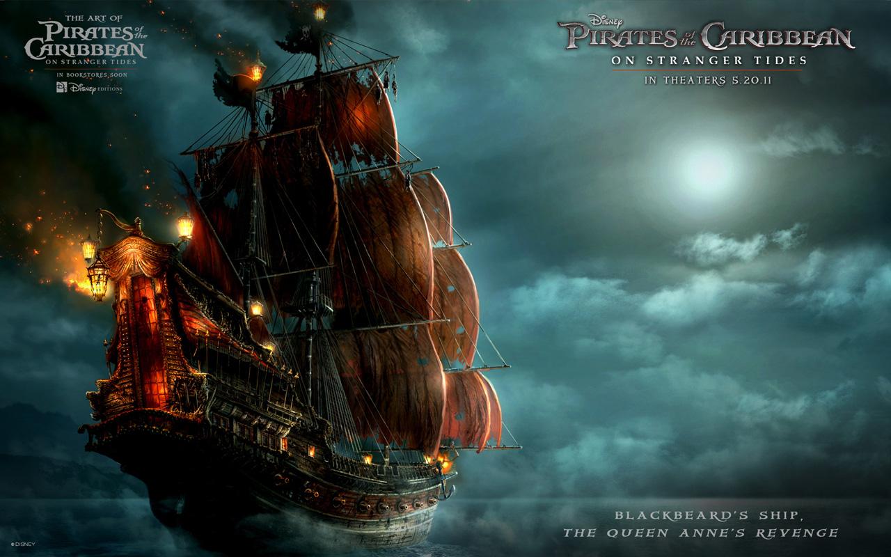 壁纸 加勒比海盗/《加勒比海盗4:惊涛怪浪》海报
