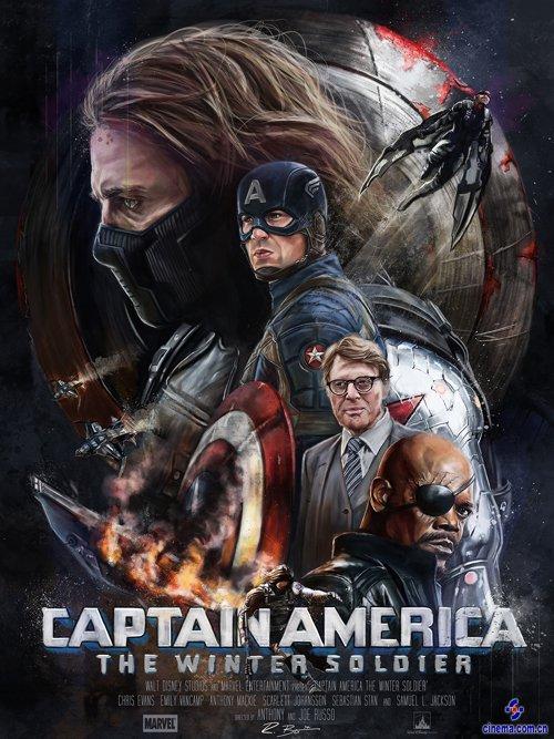 《美国队长2》海报